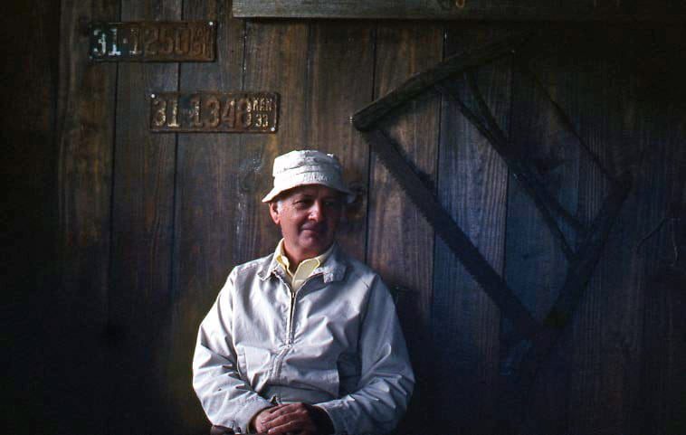 Emmet O'Rear in original Louisburg Cider Mill barn