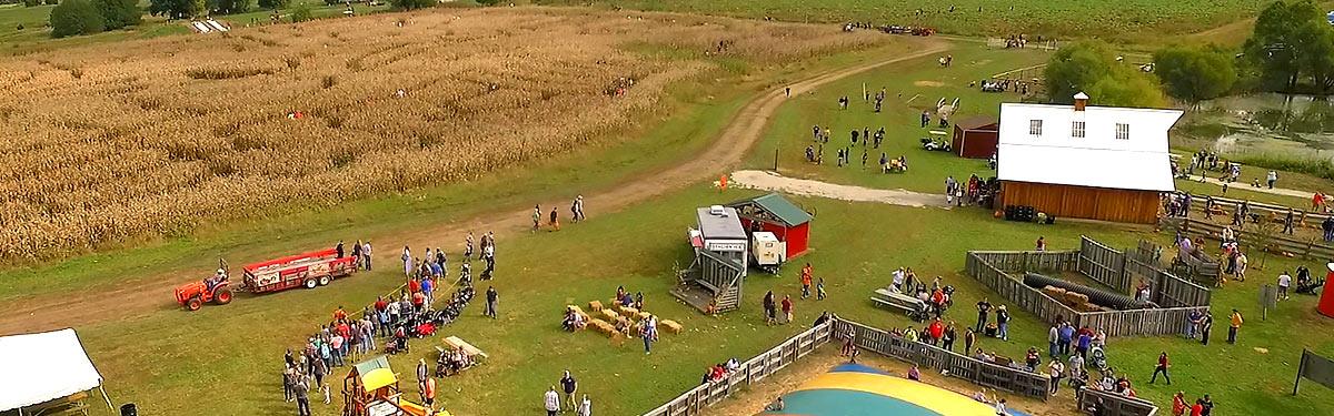 Ciderfest activities: corn maze, pumpkin patch, wagon, fun