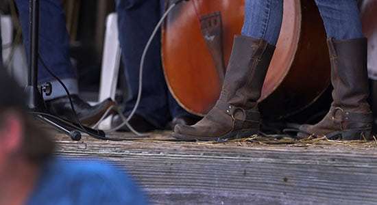 Boots and toe tappin to live music at Cidefest