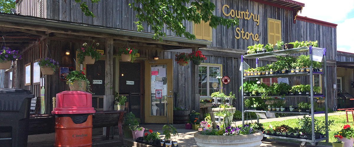 Entrance of Country Store building at Louisburg Cider Mill