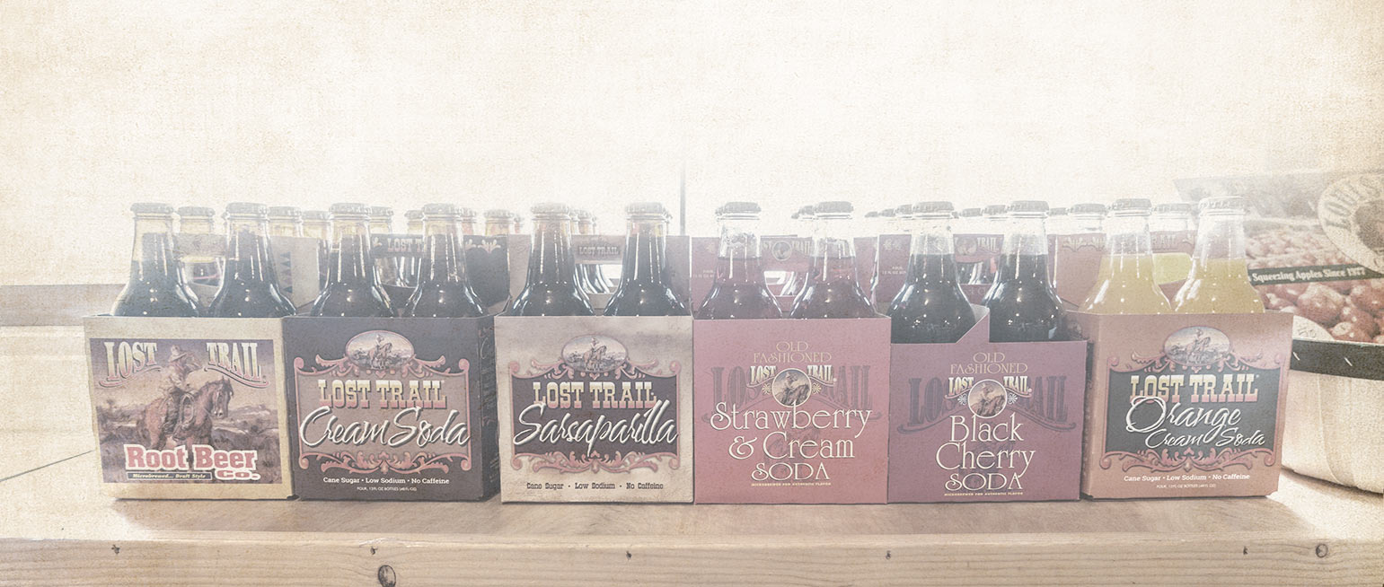 Lost Trail Soda for sale at the Country Store