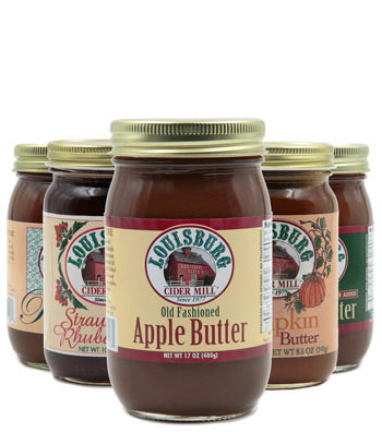 Assortment of Louisburg fruit spreads