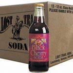 Lost Trail Black Cherry Soda, 12-pack carton