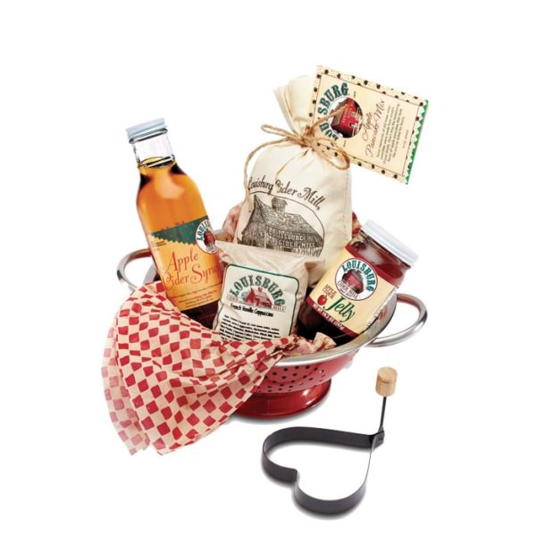 LCM Apple breakfast set with pancake mix, apple syrup, jam & cappuccino