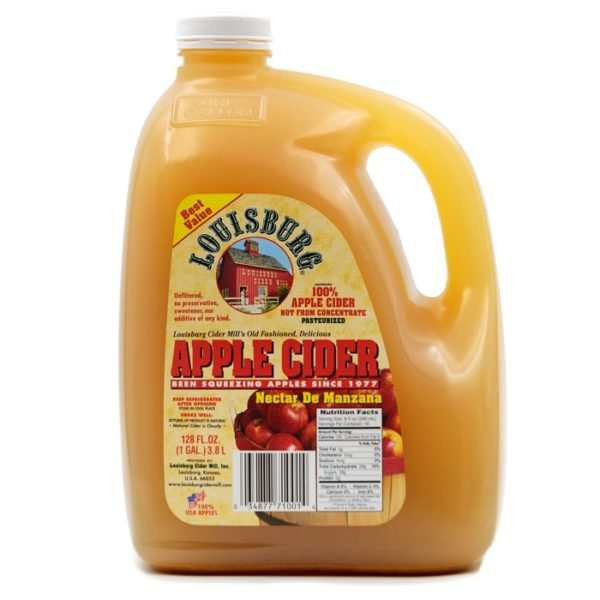 Louisburg Cider Mill Apple Cider in one gallon jug