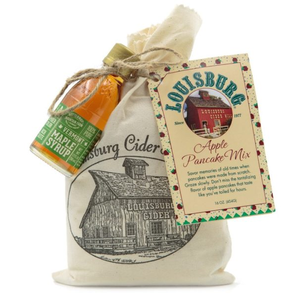 Louisburg Cider Mill Apple pancake mix with mini syrup