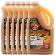Louisburg Cider Mill Cinnamon Apple Cider, half gallon jug, 6 unit case