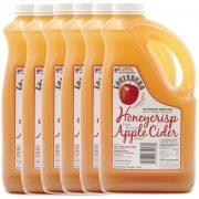 Louisburg Cider Mill Honeycrisp Apple Cider, half gallon jug, 6 unit case