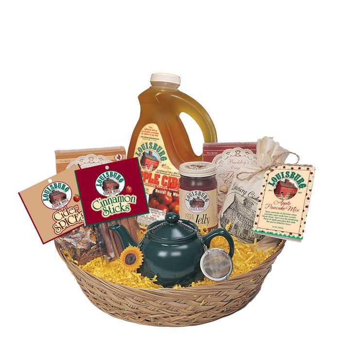 Louisburg Cider Mill Hot apple cider gift basket
