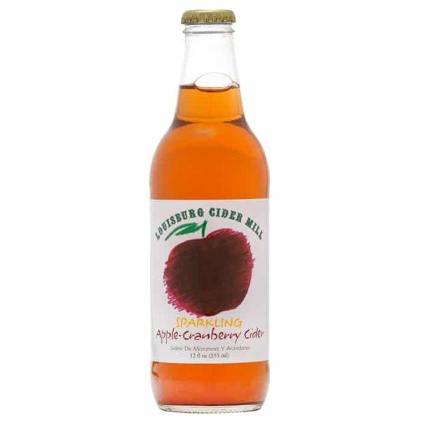 Louisburg Cider Mill 12oz bottle, Sparkling Apple-Cranberry Cider