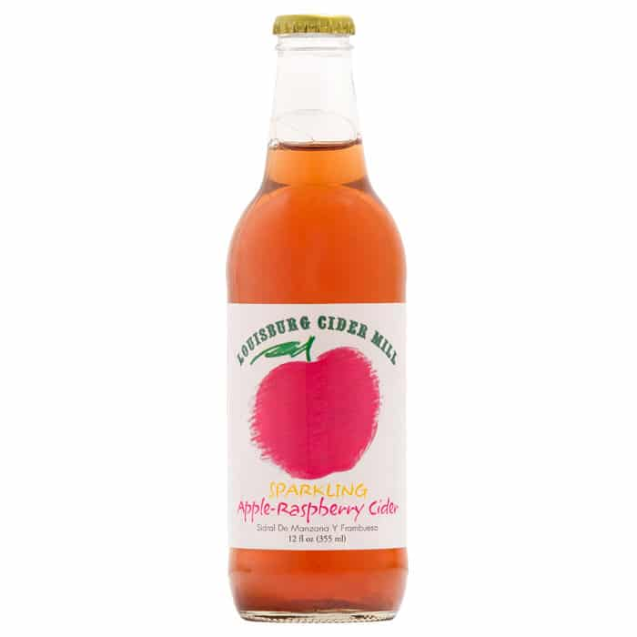 Louisburg Cider Mill 12oz bottle of Sparkling Apple-Rasberry Cider