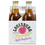 Louisburg Cider Mill 12oz Sparkling Apple Raspberry, 4-pack bottles
