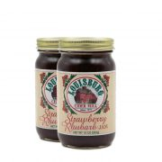 Two pints of Louisburg Cider Mill Strawberry Rhubarb Jam