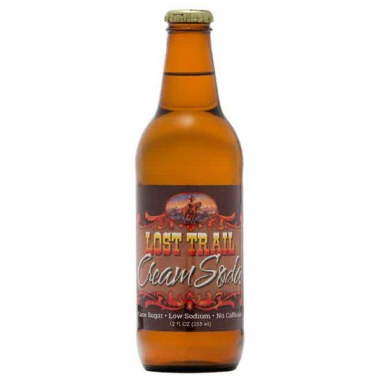Lost Trail Cream Soda, 12oz glass bottle