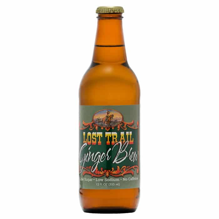 Lost Trail Soda, Ginger Brew, 12oz glass bottle