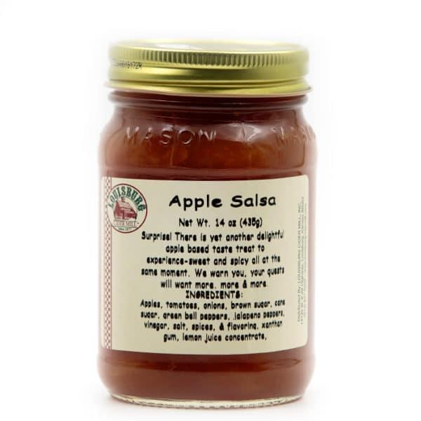 Louisburg Cider Mill Apple Salsa jar
