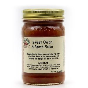 Louisburg Cider Mill Sweet Onion & Peach Salsa jar