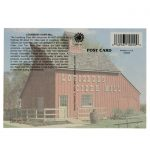 Back side of Louisburg Cider Mill Postcard with barn