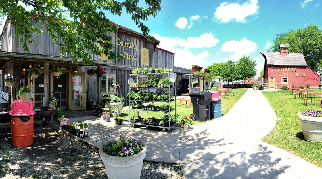 Outside the Louisburg Cider Mill & Country Store