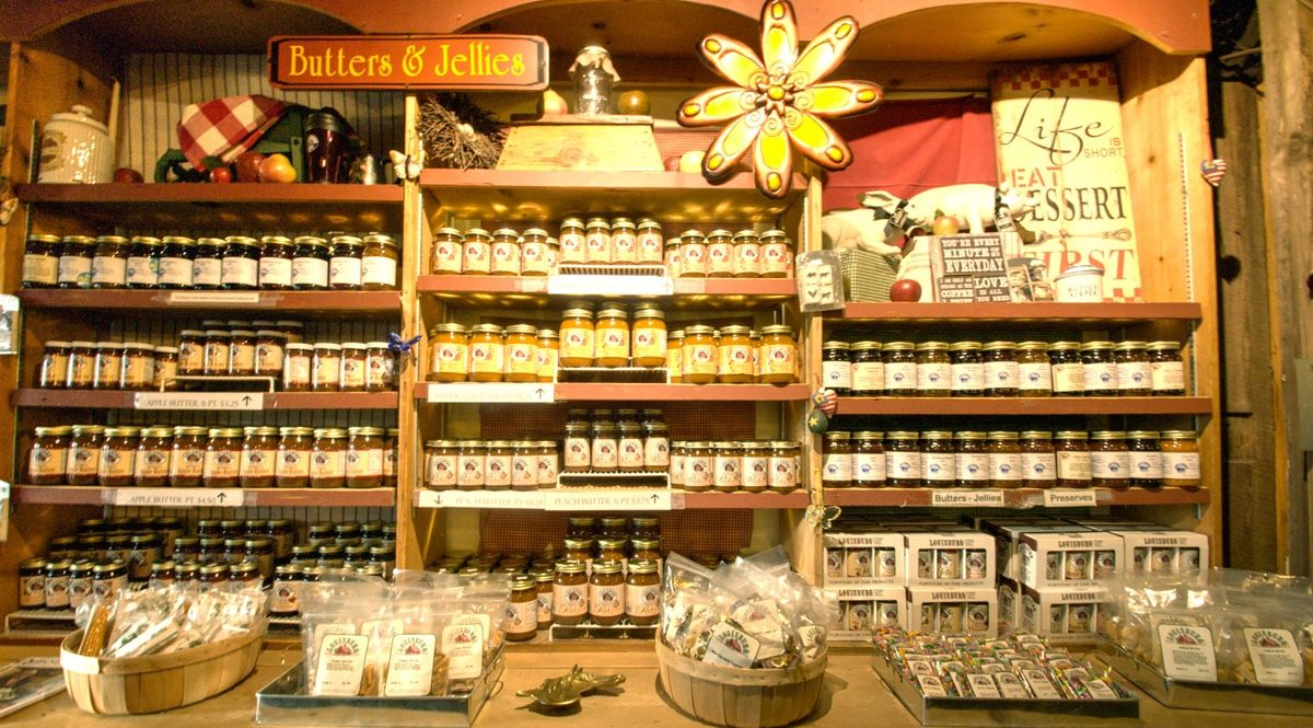 Louisburg Cider Mill jellies and jams
