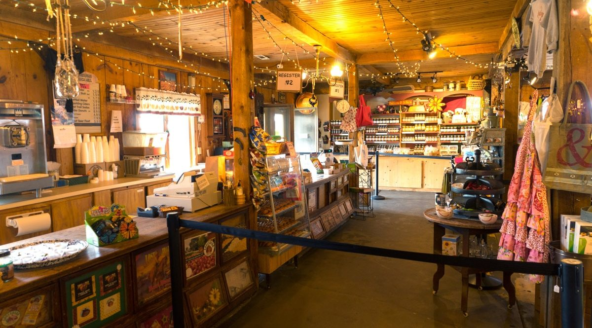 Checkout counter at the Louisburg Country Store