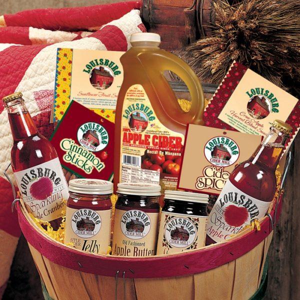 Louisburg Cider Mill Bountiful Harvest Gift Basket