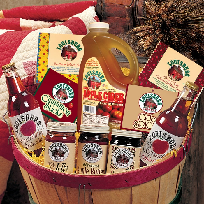 Louisburg Cider Mill Bountiful Harvest Gift Basket