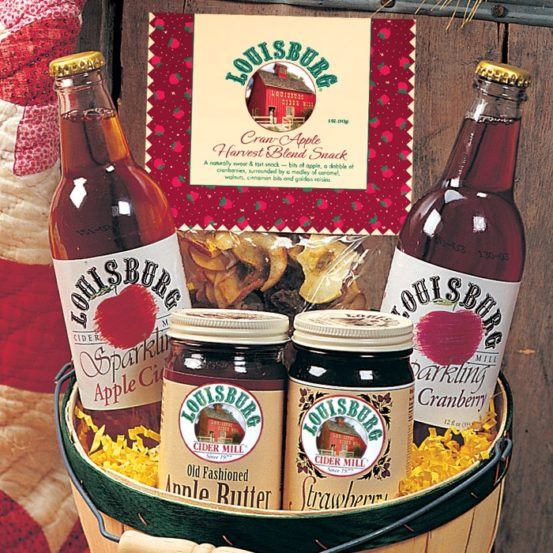 Louisburg Cider Mill Cider Barrel Gift Basket