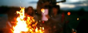 Fire pit rental at Louisburg Cider MIll